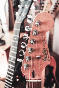Gitarrenlehrer-Hamburg, Gitarrenunterricht - Fender Stratocaster Kopfplatte
